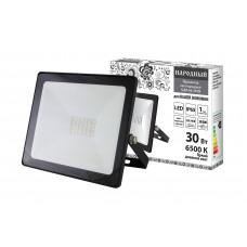 Прожектор светодиодный СДО-04-030Н 30Вт, 6500К, IP65, черный, Народный