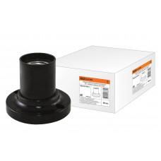 Патрон Е27 потолочный, термостойкий пластик , прямой, черный, Б/Н TDM