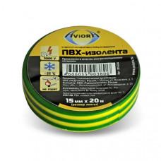 "Изолента 15 мм*20 м. желто-зеленая ""AVIORA"""