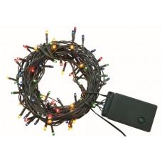 Гирлянда новогодняя  светодиодная, СГ 100 З, 220 В, зеленый шнур, многоцветная, 5 м, 8 режимов  TDM
