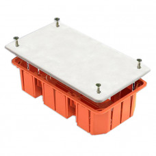 Коробка распаячная 172х96х45мм для тв. стен КМ41006