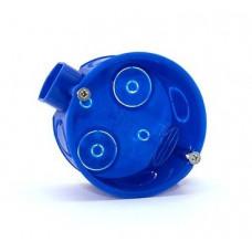 Установочная коробка СП D60х40мм, саморезы, стыковочные узлы, синяя, IP20,TDM*