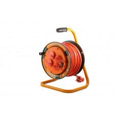 Удлинитель силовой на катушке GLANZEN 4 гн. ПВС 3х1,5 IP44 арт. ЕВ-50-007
