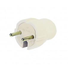 Вилка Smartbuy, прямая без заземления белая 10А 250В (SBE- 10-P04-w)