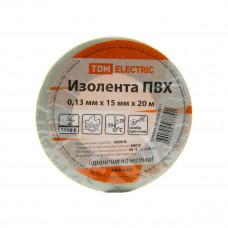 Изолента ПВХ 0,13*15мм Белая 20метров TDM