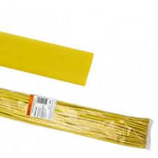 Термоусаживаемая трубка ТУТнг 20/10 желтая по 1м (50 м/упак)