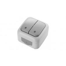 Fantasy Waterproof Выключатель 2-клав. IP 54 Серый