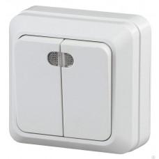 Fantasy Waterproof Выключатель 2-клав.с подсветкой IP 54 Серый