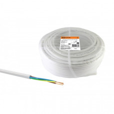 Провод ПВС 3х1 ГОСТ (100м), белый TDM