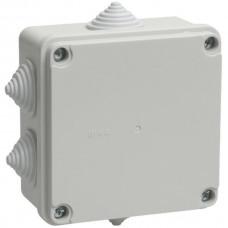 Коробка КМ41233 распаячная для о/п 100х100х50 мм IP44 (RAL7035, 6 гермовводов) IEK (1*48=48)
