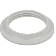 Кольцо для патрона Е27, термостойкий пластик, белый