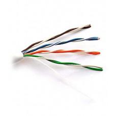 Внутренний кабель: DeTech UTP CAT5E 2PR 0.5mm CCA Premium, серая ПВХ оболочка, 305м (по метражу)