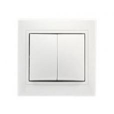 """Выключатель 2-кл. 10А белый """"Венера"""" (SBE-01w-10- SW2-0)"""