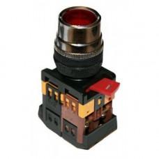 Кнопка ABLFS-22 красный d22мм неон/230В 1з+1р TDM*, шт