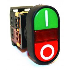 """Кнопка APВВ-22N """" I-O """" d22мм неон/230В 1з+1р TDM*"""