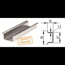 DIN-рейка усиленная 35х15х1,2х 1000мм оцинкованная