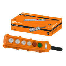 Пульт управления ПКТ-40ПС, кнопки Пуск с фиксацией, Стоп, вверх, вниз, влево, вправо, IP54 TDM