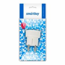 Адаптер переходник Smartbuy, без заземления белый 6А 250В(SBE-06-S05-w)
