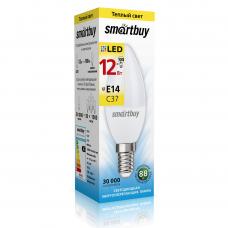 Светодиодная (LED) Лампа Smartbuy-C37- 12W /3000 Е14