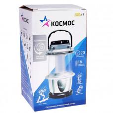 Фонарь кемпинговый аккумуляторный КОСМОС 2028LED 16*LED 3*AA,регулировка яркости