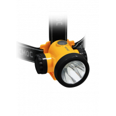 Фонарь налобный светодиодный аккумуляторный КОСМОС 3W LED Li-ion акк, встроенное з/у, шнур micro usb