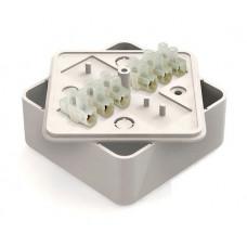 Коробка распаячная КР 100х100х 29 ОП с клем. колодкой белая IP40 TDM*
