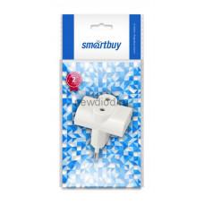 Блок Smartbuy, 3 гнезда под плоскую вилку белый 6А 250B(SBE-06-A04-3)