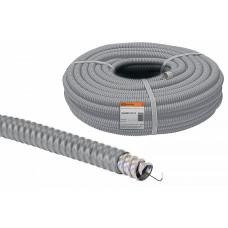 Металлорукав в ПВХ-изоляции РЗ-Ц-П 20 серый с протяжкой
