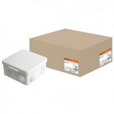 Распаячная коробка ОП 100х100х55мм, крышка, IP54, 8вх. TDM