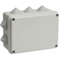 Распаячная коробка ОП 240х195х90мм, крышка, IP44, 10 кабельные ввода d28-3 шт., d37-2 шт., TDM