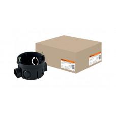Установочная коробка СП D65х40 мм, саморезы, стыковочные узлы, IP20,TDM