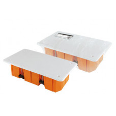 Распаячная коробка СП 120х92х45мм, крышка, пл. лапки, IP20, инд. штрихкод, TDM