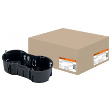 Установочная коробка СП 2-х местная, 141х70х45мм, саморезы, IP20, TDM