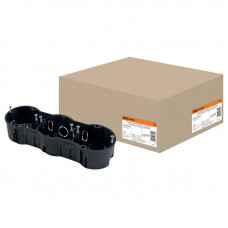Установочная коробка СП 3-х местная, 212х70х45мм, саморезы, IP20, TDM