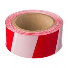 Лента сигнальная для ограждений 50мм/50м, бело-красная, неклейкая