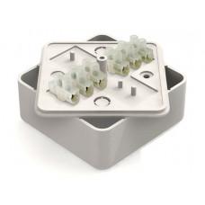 Коробка распаячная КР 50х50х20 ОП с клем. колодкой белая IP40 TDM*