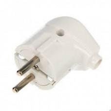 Вилка Smartbuy, угловая с заземлением белая 16А 250В (SBE-16-P02-w)