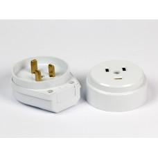 Разъем Smartbuy, для плиты 32А 250В 2P+PE (ОУ) пластиковый белый (SBE-IS1-250-P), шт