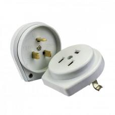Разъем Smartbuy, для плиты 32А 250В 2P+PE (СУ) пластиковый белый (SBE-IS2-250-P), шт Скрытой Установ