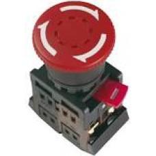 """Кнопка AE-22 """"Грибок"""" с фиксацией красный d22мм 230В1з+1р TDM*"""
