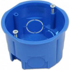 Установочная коробка СП D68х45 мм, саморезы,синяя, IP20, TDM