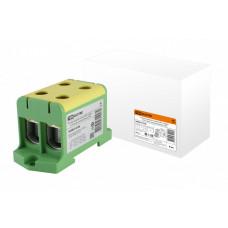 Клемма вводная силовая КВС 4 ввода 16-95 кв.мм.  желтая/зеленая