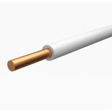Провод установочныый ПуВ (ПВ-1)  1,5 белый (100м)