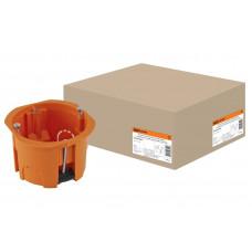 Установочная коробка СП D65x45мм,саморезы,пл.лапки,оранжевая,IP20,TDM