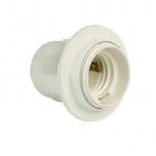 Патрон Е14 пластиковый с кольцом, термостойкий пластик,белый (SBE-LHP-sr-E14)