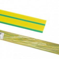 Термоусаживаемая трубка ТУТнг 12/6 желто-зеленая по 1м (50 м/упак) TDM