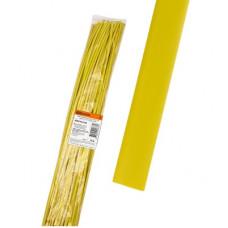 Термоусаживаемая трубка ТУТнг 12/6 желтая по 1м (50 м/упак) TDM