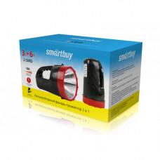 Аккумуляторный фонарь-прожектор 2 в 1 3W+6 SMD, черный (SBF-400-K)/45