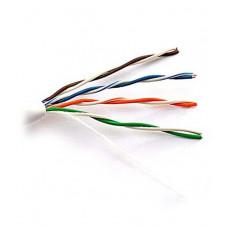 Внутренний кабель: DeTech UTP CAT5E 4PR 0.5mm CCA Premium, серая ПВХ оболочка, 305м