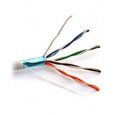 Внутренний кабель: DeTech FTP CAT5E 4PR 0.5mm CCA Premium, серая ПВХ оболочка, экранированный, 305м